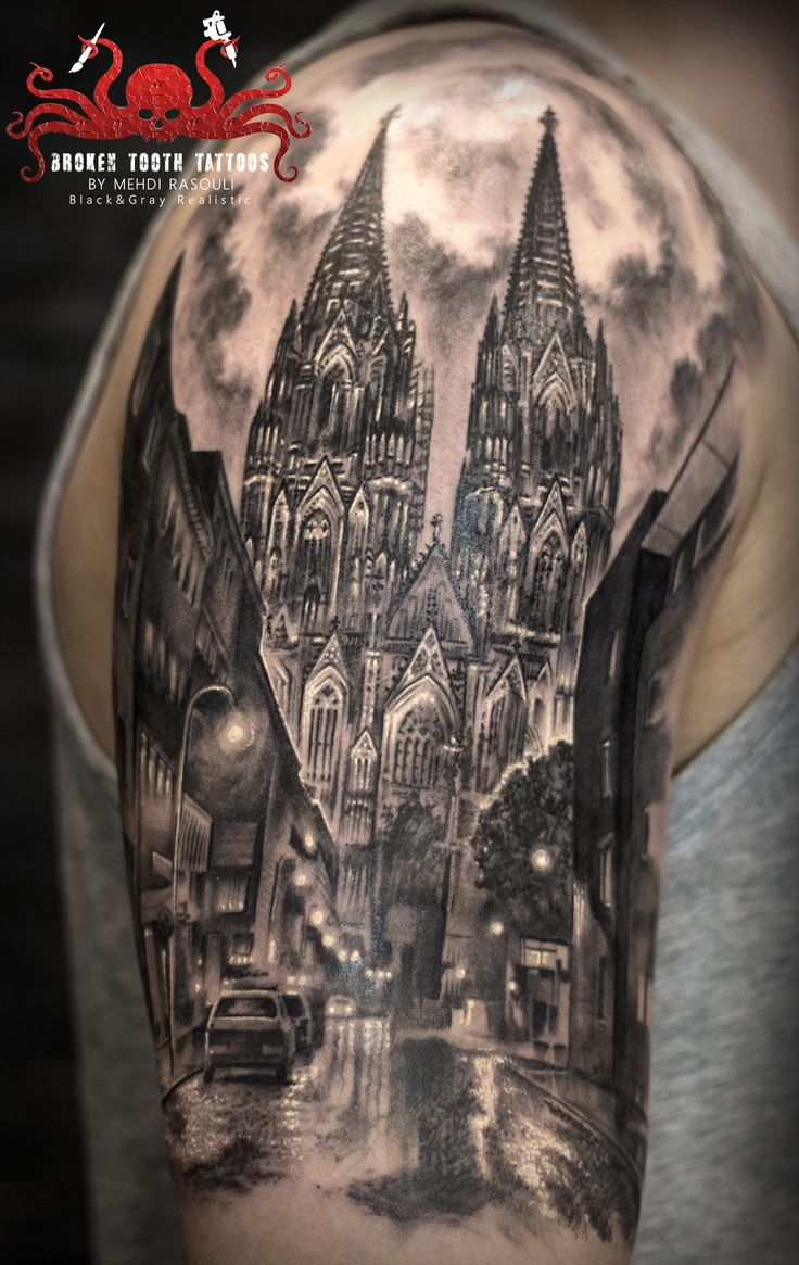 cologne dome tattoo by mehdi rasouli broken tooth tattoos
