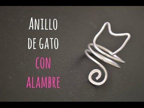 Cómo hacer un anillo de alambre con aspecto de gato fácil - YouTube