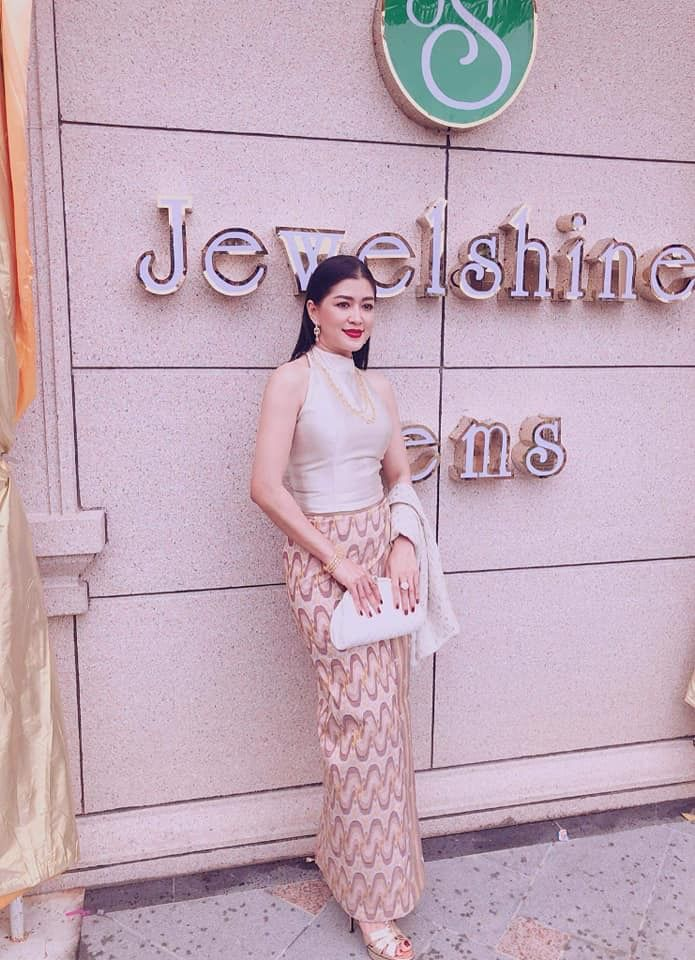 Eaindra Kyaw Zin Myanmar Actress Myanmar Outfit Myanmar Clothes Fashion Lace Skirt