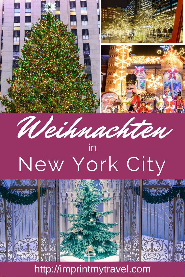 Weihnachten in New York City. Die Metropole New York verwandelt sich zu Weihnachten in ein wahrgewordenes Weihnachtsmärchen! Die Lichter, die Stimmung, das Erlebnis - NYC in der Vorweihnachtszeit ist einzigartig!