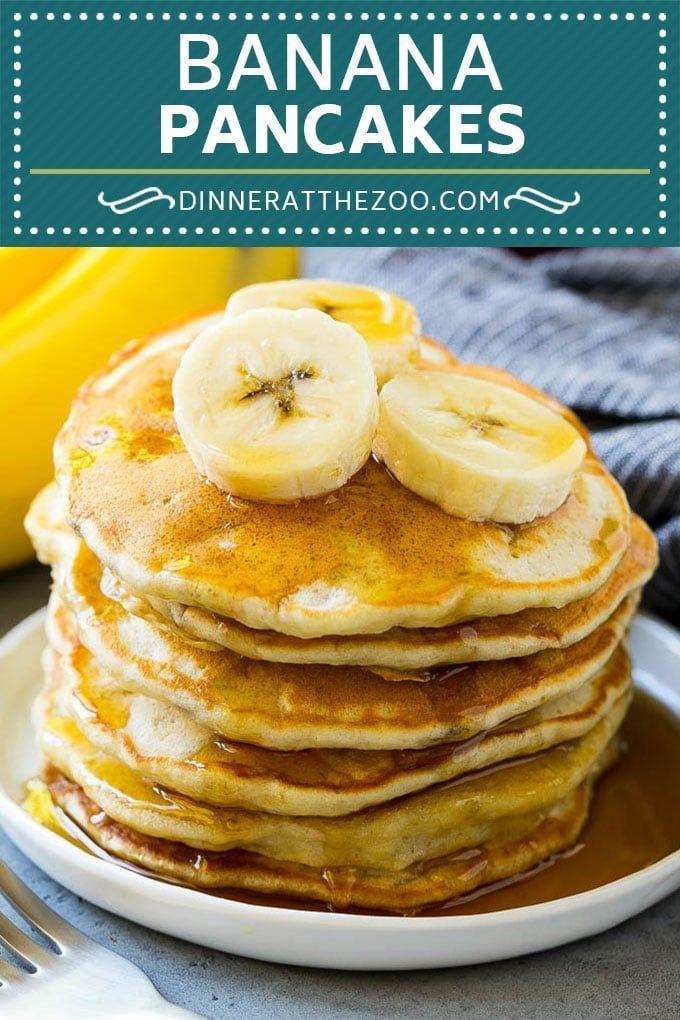 Banana Pancakes Recipe Easy Pancakes Pancake Recipe Pancakes Banana Breakfast Brunch Dinner Banana Pancakes Recipe Banana Pancakes Pancake Recipe Easy