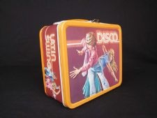 Disco Lunch Box: This box tries to take advantage of the Disco dance craze popular in American in the late 19070s, which was at its peak in 1978, before the Chicago White Sox's infamous Disco Demolition Night set off a backlash that made disco decidedly uncool.