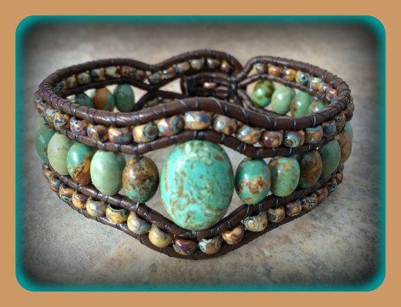 Triple Row Wrapped Leather Bracelet