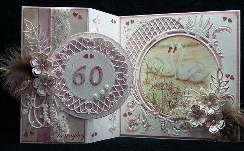Voorbeeldkaart - 60 jaar getrouwd - Categorie: Stansapparaten - Hobbyjournaal uw hobby website