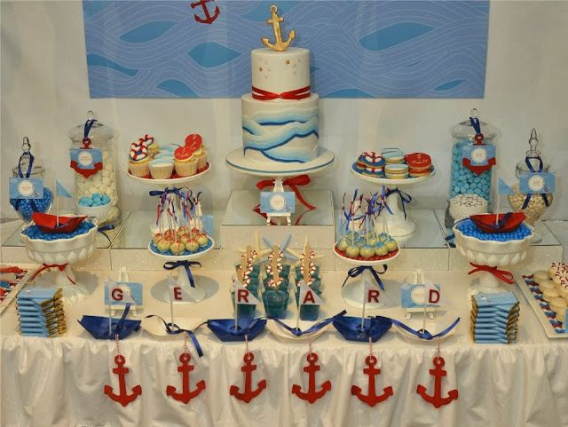 Ahoy Nautical Baby Shower Theme via Baby shower ideas for boy or girl #babyshowerideas