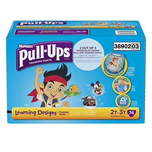 Pull-Ups Training Pants with Learning Designs for Boys 2T-3T 74 Count (Packaging May Vary)
