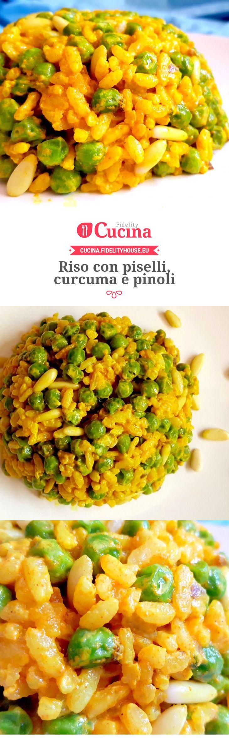 #Riso con #piselli, #curcuma e #pinoli della nostra utente Monica. Unisciti alla nostra Community ed invia le tue ricette!
