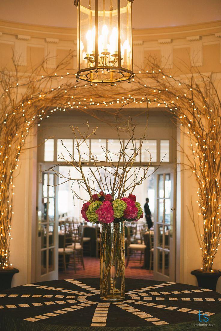 Foyer Decor For Wedding : Gorgeous entryway reception decor tall centerpieces