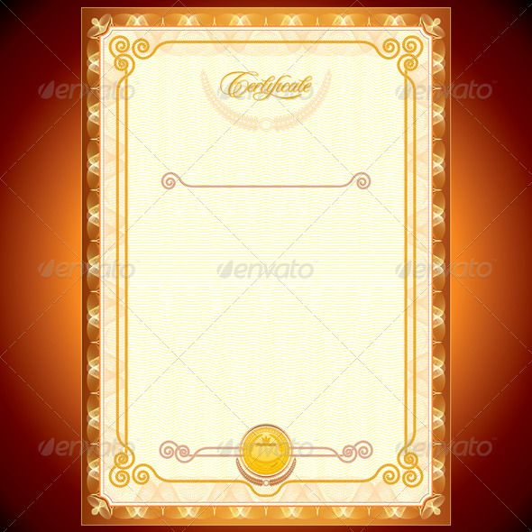 Golden Certificate  #GraphicRiver         Vector Blank Golden Certificate Design. Template Ready for your text and design, include CMYK  	 - vector illustration, only simply linear and radial gradients used  	 - no blends, gradient mesh used  	 - pack include version AI, CDR, EPS, JPG  	 Keywords: text, copy, space, print, vintage, stamp, royal, victory, certificate design, yellow, success, paper, diploma, award, vectors, layout, decorative, eps10, shining, free, abstract, modern, layout, A4...