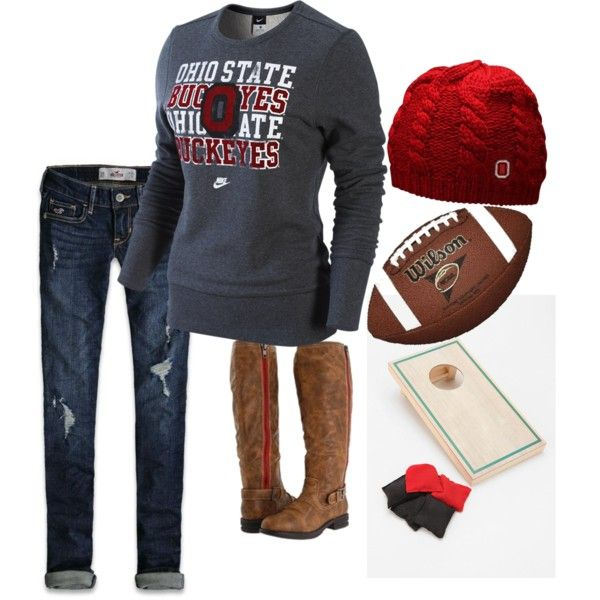 """For you Brans...you know I wouldn't be caught dead in this...go maize and blue! ohio state"""" by rkracker on Polyvore"""
