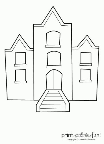 41 best coloring book pages images on pinterest   adult coloring ... - Apartment Building Coloring Pages