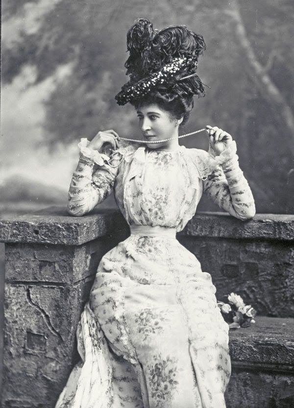 "Lillie Langtry - ""The Jersey Lily"" - (1853-1929) - Actress, mistress of Edward, Prince of Wales and others. Oooooo, how scandalous this must have been! :O)"