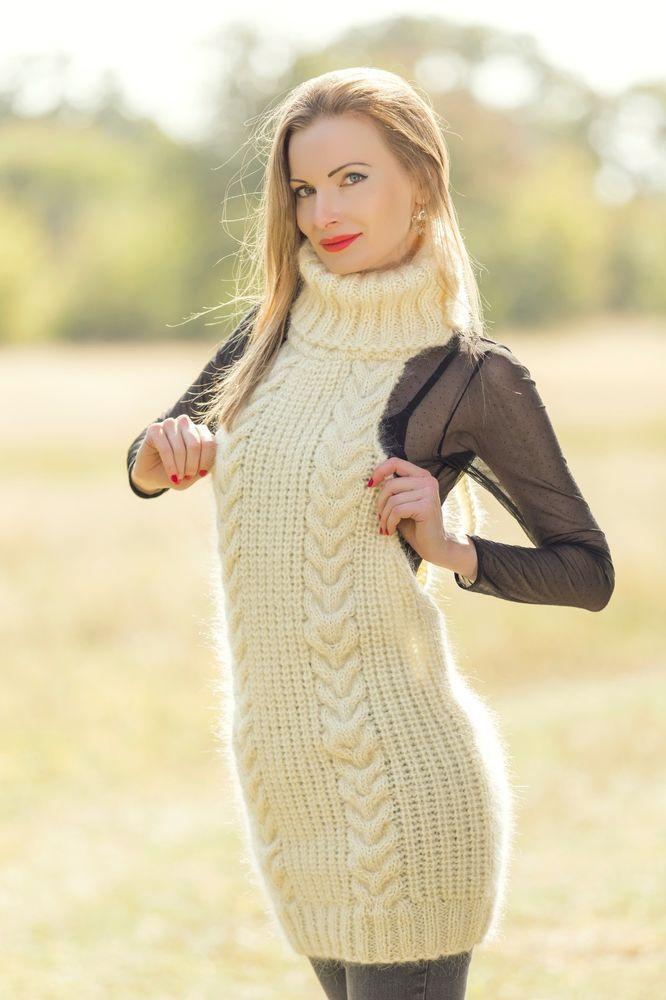 Sexy women fuzzy sweaters