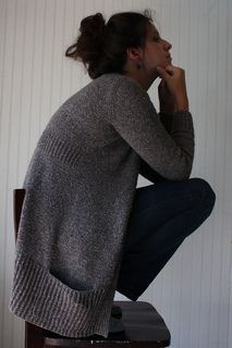 Linney Cardigan by Amy Christoffers Bottom up ~ Worsted 10ply