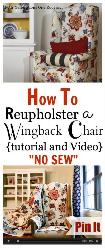 how to reupholster a wingback chair | REPINNED