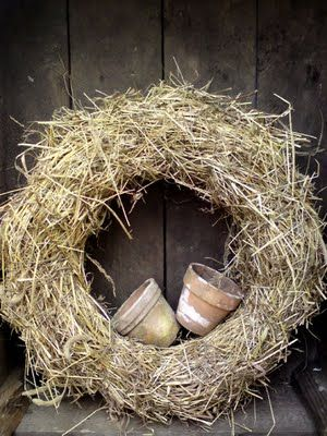 Country Living. Straw Hay wreath