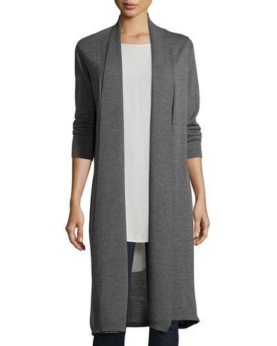 Washable Wool Kimono Duster Cardigan