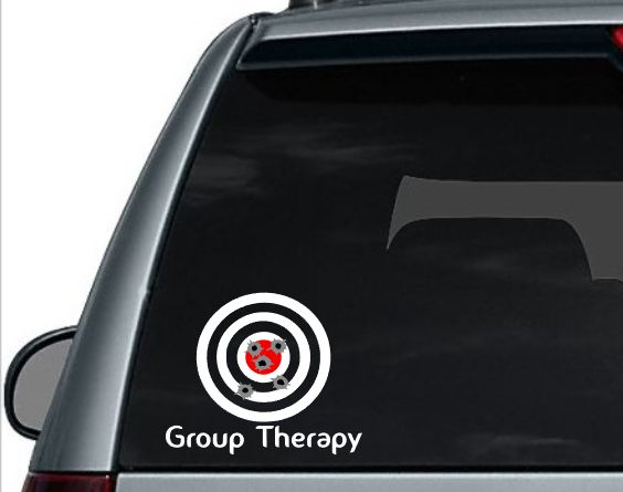 Group therapy car decal second amendment 2a decal target decal