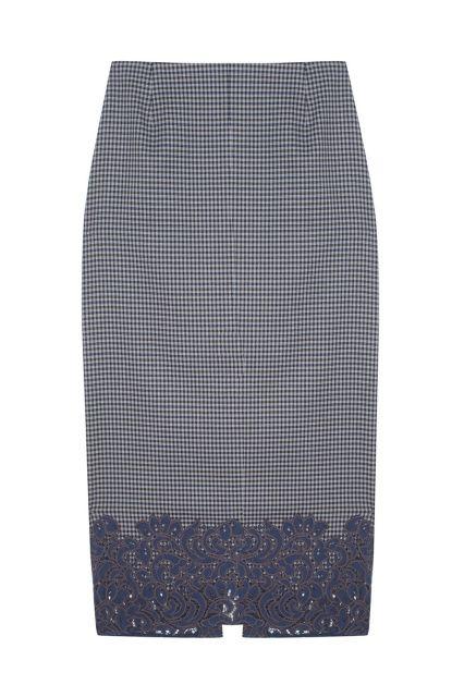 Юбка в клетку ARnouveau - Юбка-карандаш из коллекции молодого российского бренда ARnouveau в интернет-магазине модной дизайнерской и брендовой одежды