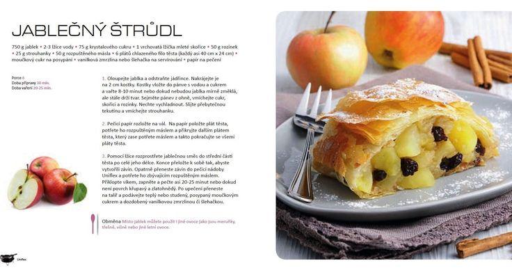 Jablečný štrůdl recept,  Tefal Uniflex