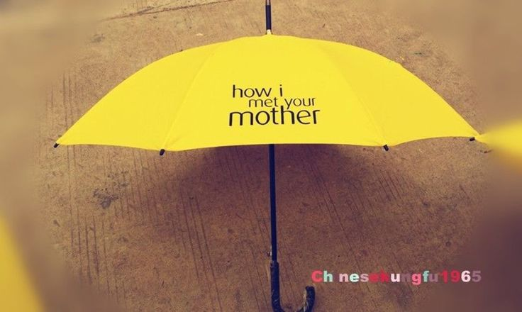 TV Serious How I Met Your Mother Umbrella Yellow Windproof Anti Rain Characters