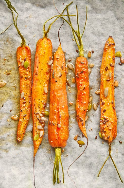 Roasted carrots...without the stems!