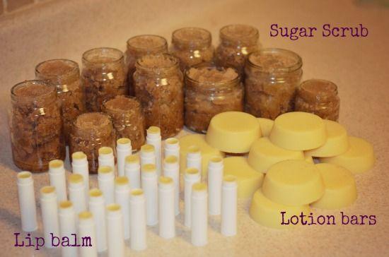 lip balm lotion bars sugar scrub