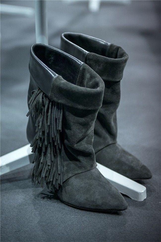 Isabel Marant para H&M: Botines con flecos