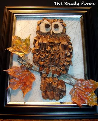 508 best owl stuff images on pinterest owls barn owls for Pine cone art projects