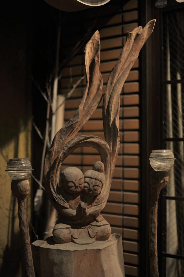 Enku? In old town Nara, known as Naramachi via Tokyobling's Blog.