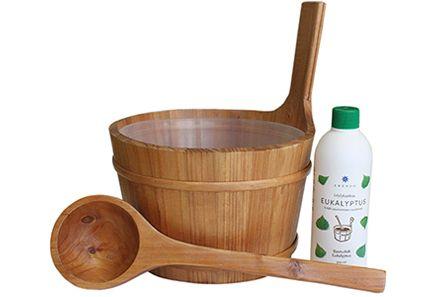 Terveystuotteet - Emendo Kiulu, kauha, Eukalyptus 500 ml -setti