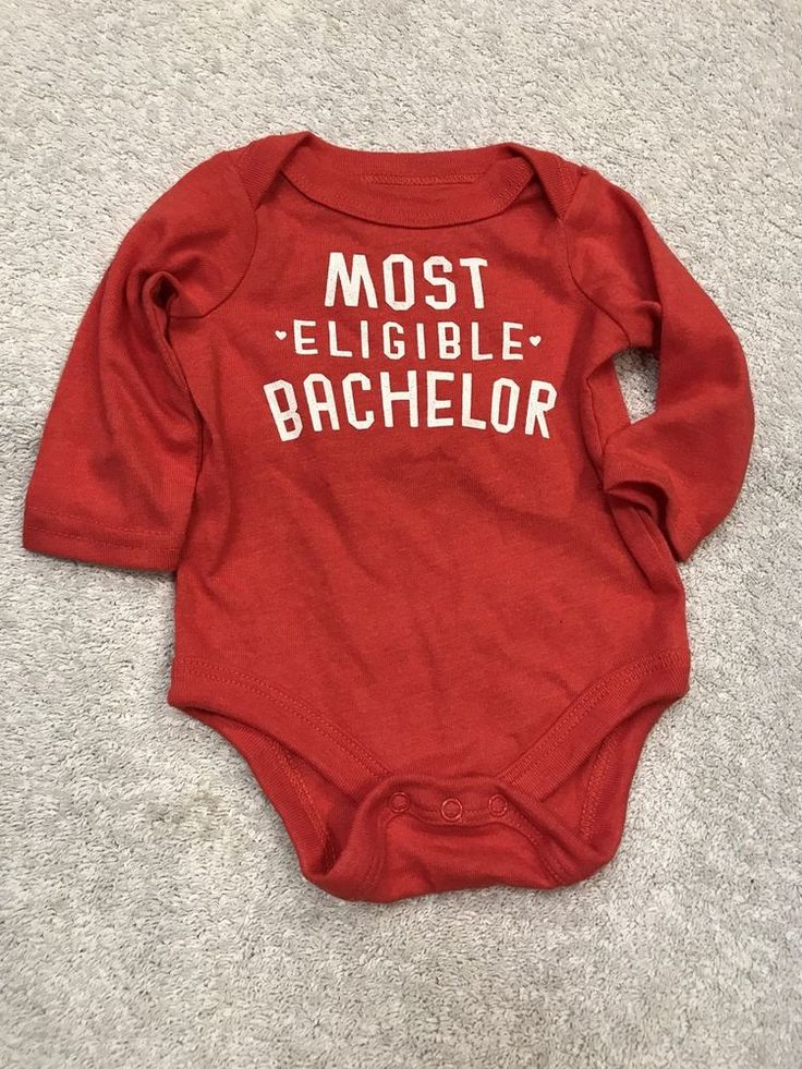 One-Piece Body Suit New Born 6 - 8.5 Lbs Anthem Red Most Eligible Bachelor  | eBay