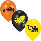 lot de 6 ballons engins construction