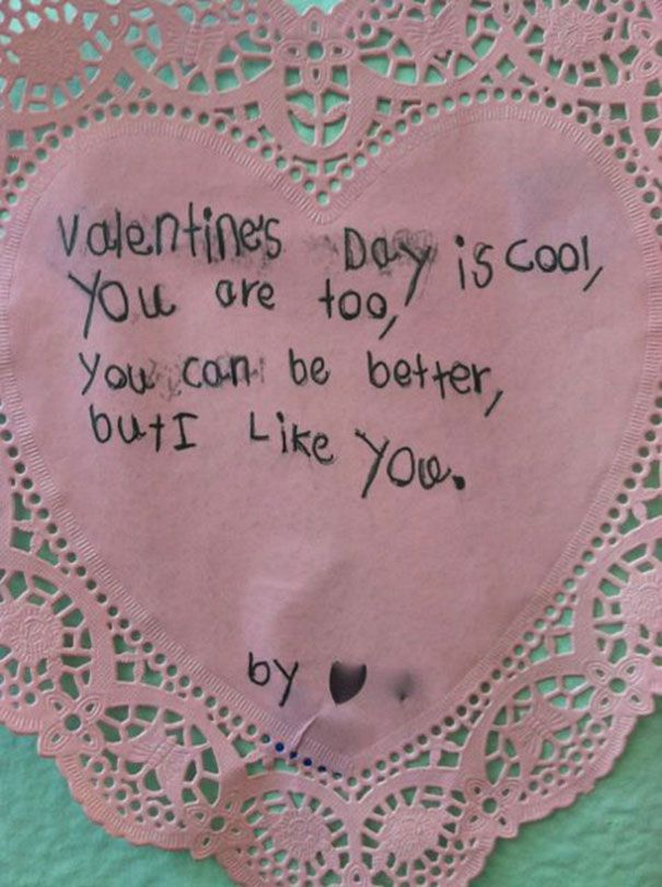 Funny And Honest Valentine's Day Poem By Kid