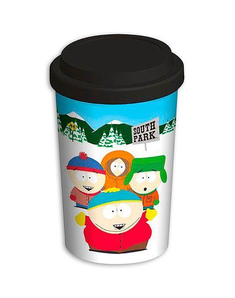 Taza de viaje South Park Estupenda taza que te servirá tanto de viaje como para tu casa decorada con la imagen de los personajes de South Park.