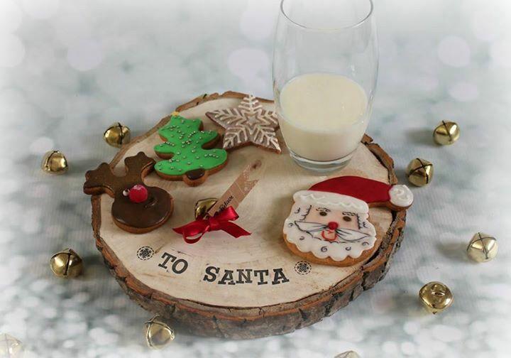 A woodland Santa plate