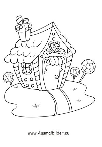 ausmalbild haus | printable christmas coloring pages