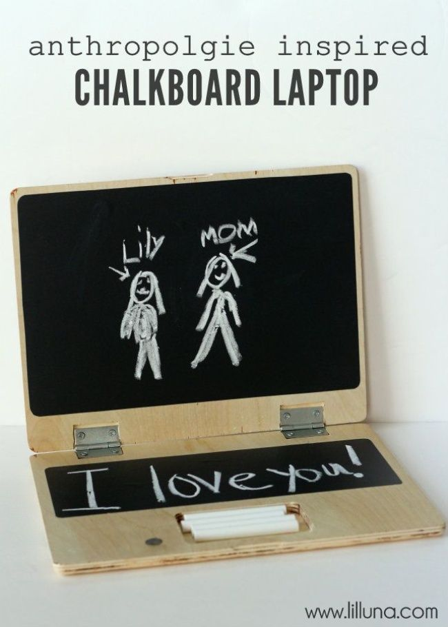 Anthropologie Inspired Chalkboard Laptop