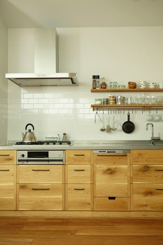 Fans of Plain English kitchen designs, meet the company's Japanese counterpart. Put together like puzzle pieces without nails or screws, KitoBito's so
