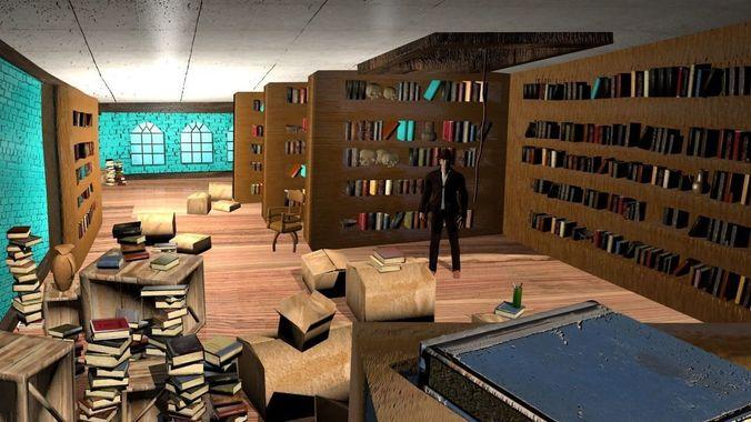 Indiana Jones Barnett College Library | 3D Model