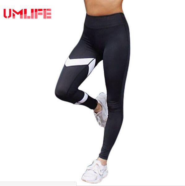 Schwarz weiß patchwork yoga hosen harajuku pfeil print gym sport leggings frauen athletisch workout laufhose hosen