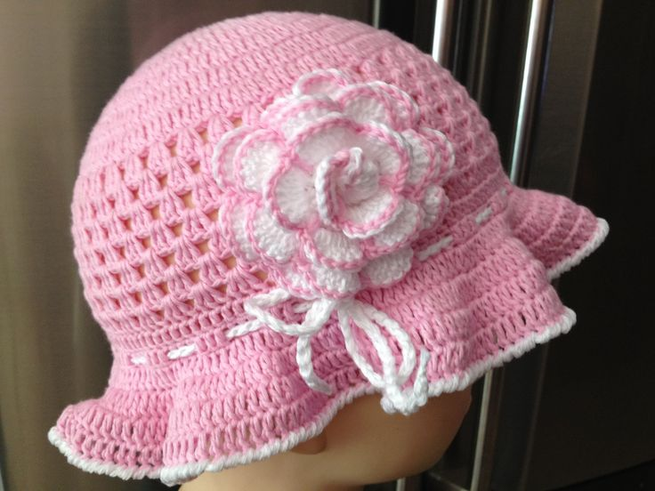Elegante cappello a uncinetto per bambina ragazza donna di CreationPatchworkEwa su Etsy