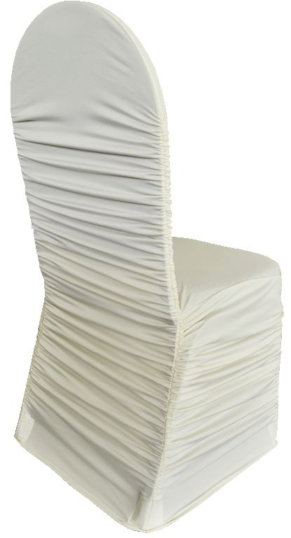 Rouge Spandex Chair Covers - Ivory 62502(1pc/pk)