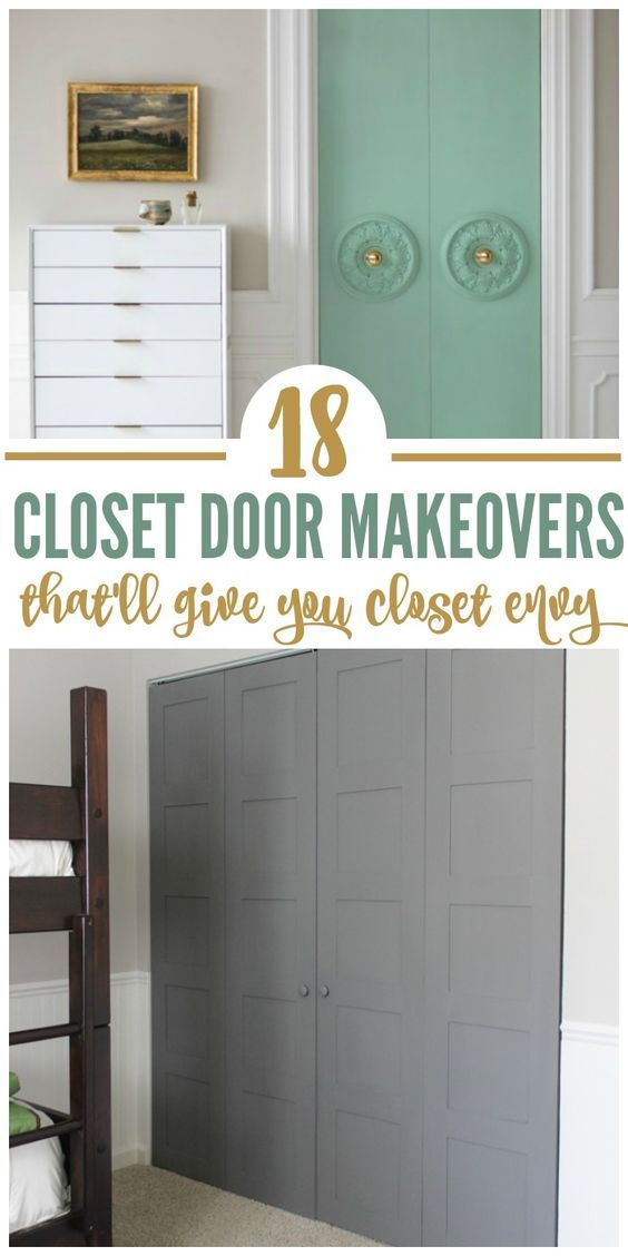 Are you tired of your plain old closet doors? We have plain bi-fold doors, and they're the worst! So on our quest to spruce them up, we've found 18 closet door makeovers with real wow factor. Some are easy (just paint tricks) while others require a little more diy expertise. Either way you go, you're sure to improve your closet with these ideas!