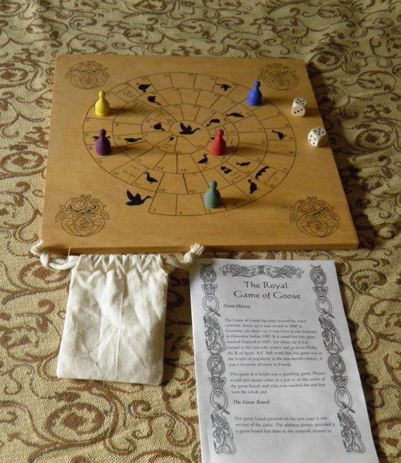 Medieval board game  Game of Goose by GuineveresGames on Etsy, $45.00