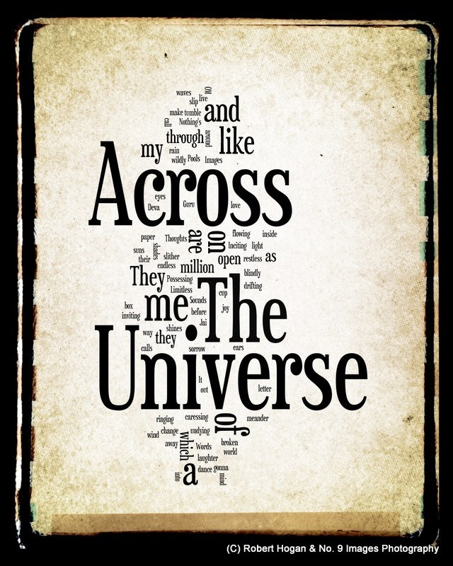 across the universe the beatles word art beatles