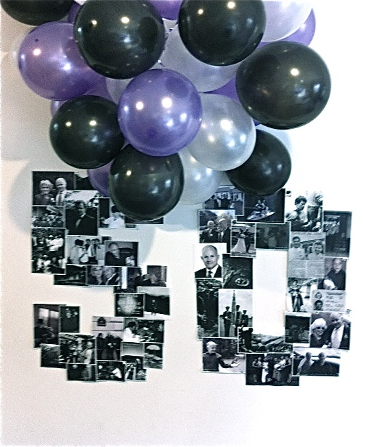 My version 7 - Did this for my husband's 50th. There he is! Thanks Pinterest! Inspired by http://joannagoddard.blogspot.co.nz/2011/03/birthday-decor.html