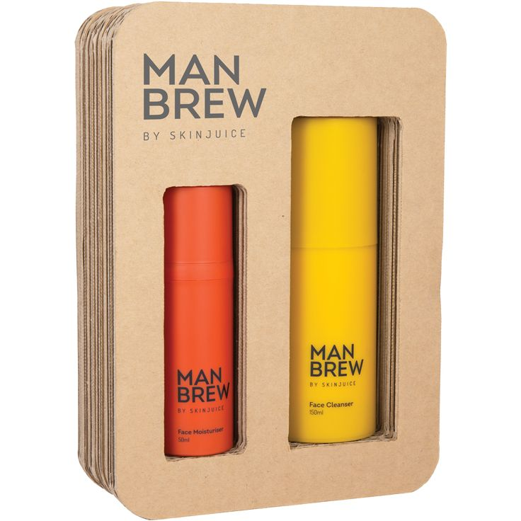MAN BREW Face Cleanser 150ml – Keep it clean and fresh with this powerful Turmeric oil-gel cleanser.  MAN BREW Face Moisturiser 50ml – Keep it smooth and young with this charcoal infused hydrating face cream. #menskincare #natural #skinjuice #men #males #cleanser #skincare #beautysalon #australiamade #southcoast