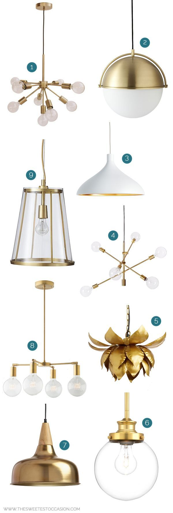 538 best chandeliers and lighting images on pinterest ceiling 9 awesome brass light fixtures on a budget under 350 and other home improvement arubaitofo Image collections