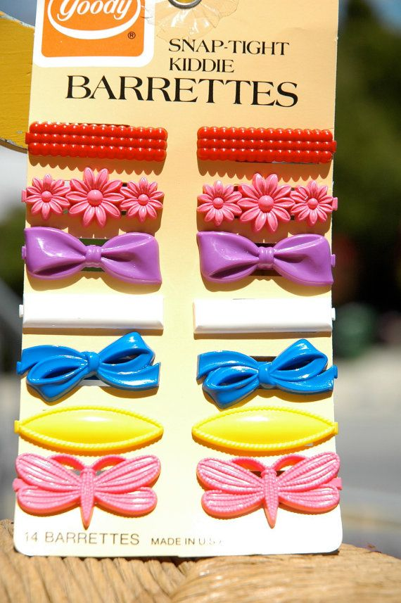 Vintage 1980s Goody Barrettes - totally got these as hand-me-downs in the 90s